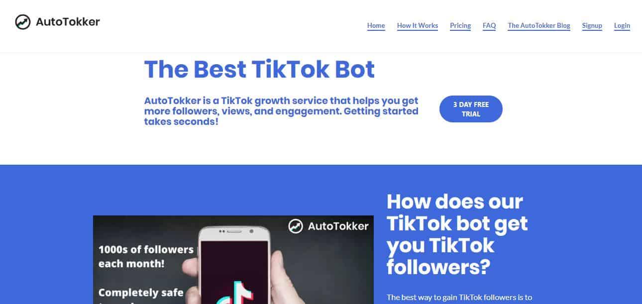 Image of Autotokker Website
