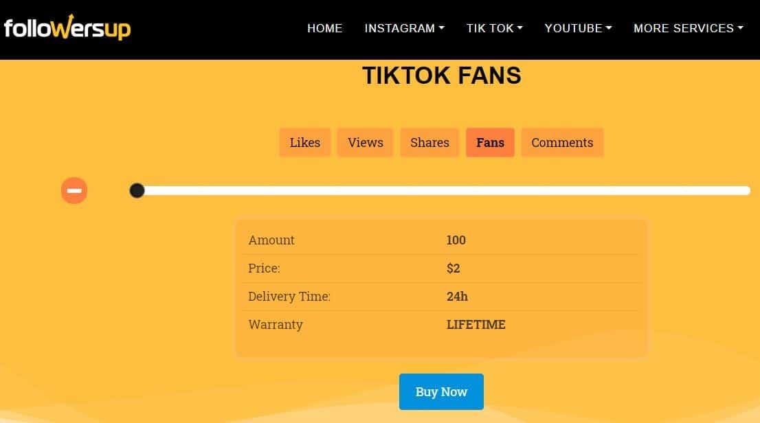 Followers Up TIktok Fans Service