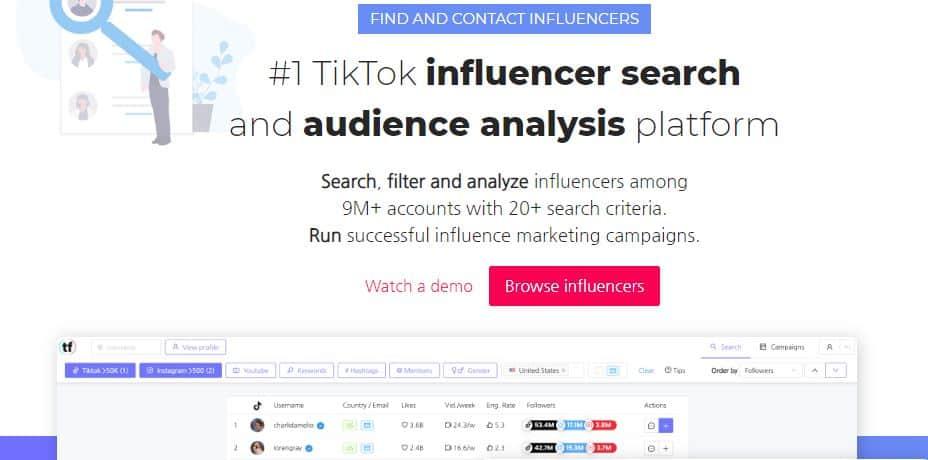 Tokfluence TikTok Influencer Platform